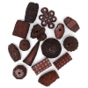 Resin Beads Irregular Chunky Shapes Brown